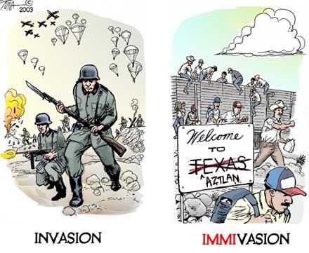 Immivasion - Immigration Invasion cartoon